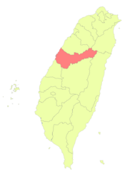 Taiwan ROC political division map Taichung City (2010).png