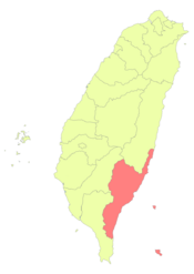 Taiwan ROC political division map Taitung County.png