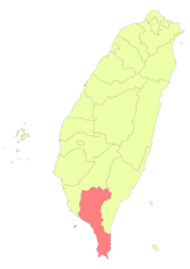 Taiwan ROC political division map Pingtung County.png