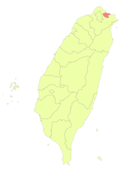 Taiwan ROC political division map Keelung City.png