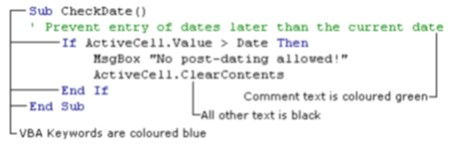 VBE-Visual Basic Editor - Visual Basic for Applications
