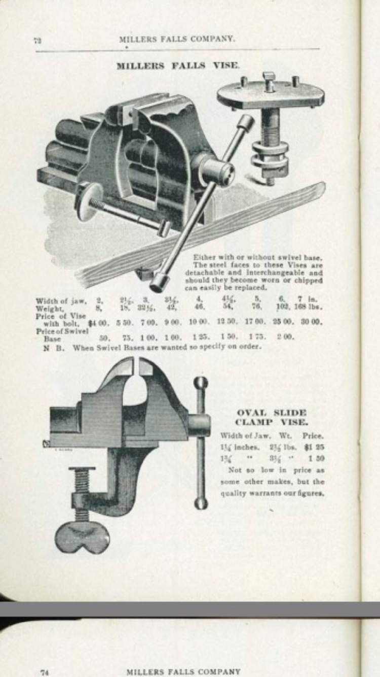 this Miller's Falls catalog advertisement