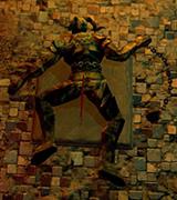 Immobile statue