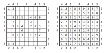 Skyscrapers Sudoku Example + Solution.png